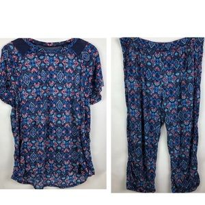 Cuddl Duds | Pajama Set with Pockets | 2XL